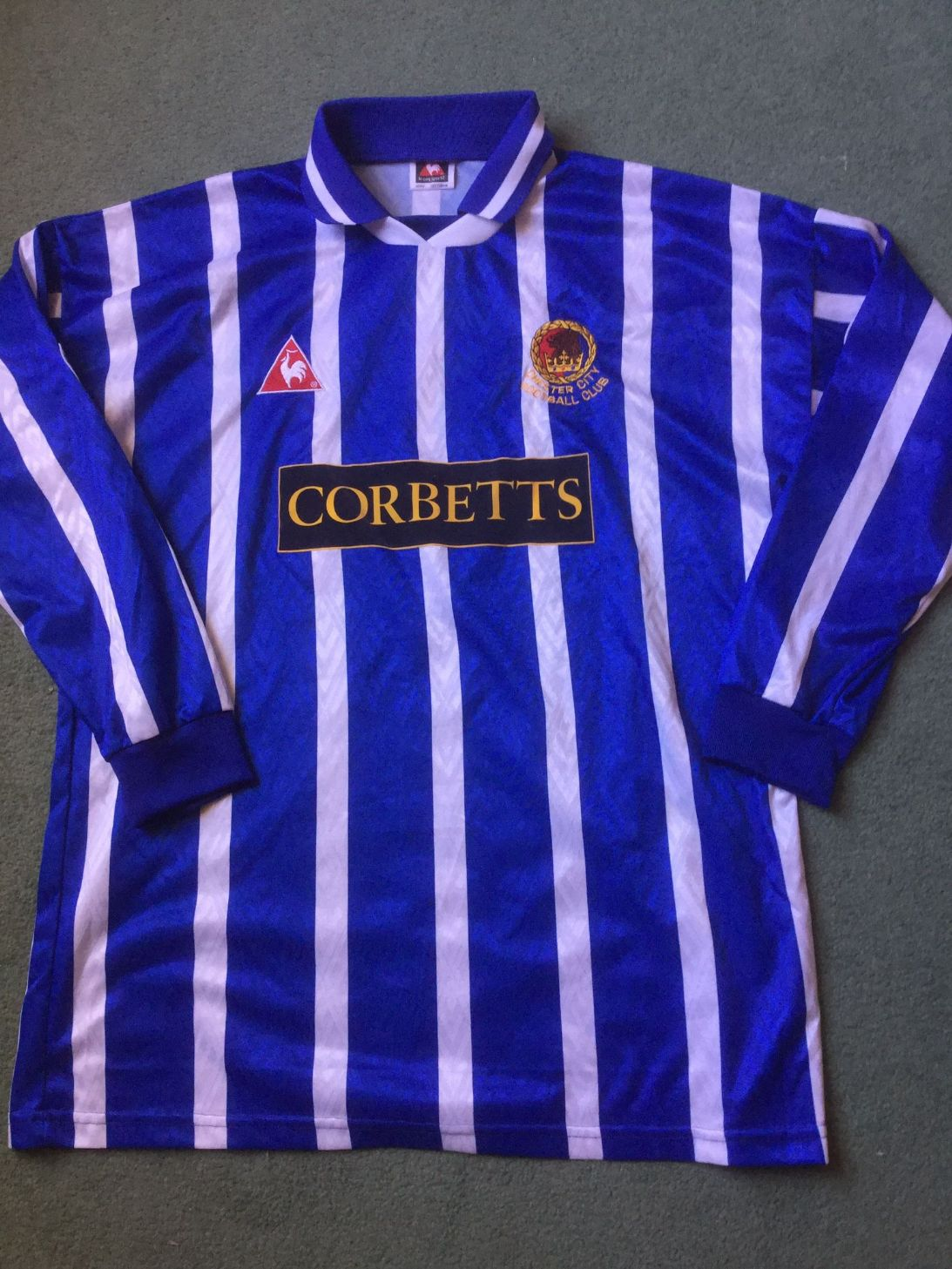 1995 1996 Chester City FC Match Worn L/s Football Shirt Top Andy Milner